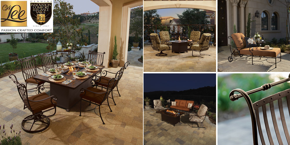 OW Lee St. Charles Patio Furniture Collection with Wrought Iron Frames