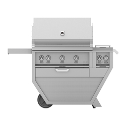 "Deluxe 36"" Grill with Work Top and Double Side Burner"