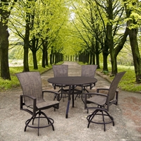 Homecrest Havenhill 5 Piece Balcony Set with Sorrento Table - HOMECREST-HAVENHILL-SET2