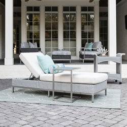 Lloyd Flanders Elements Wicker Outdoor Chaise and Side Table Set - LF-ELEMENTS-SET12