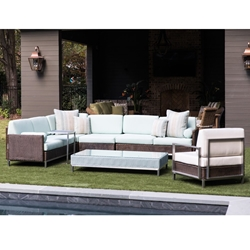 Lloyd Flanders Elements Wicker L-Sectional with Lounge Chair - LF-ELEMENTS-SET16