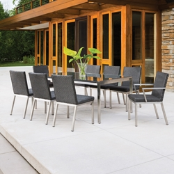 Elements Wicker 9 Piece Patio Dining Set