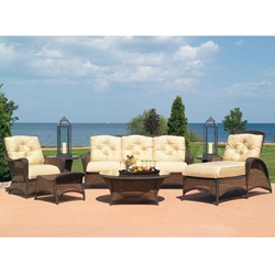 Lloyd Flanders Grand Traverse 7 Piece Patio Lounge Set - LF-GRANDTRAVERSE-SET10