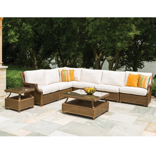Lloyd Flanders Hamptons Wicker L-Sectional - LF-HAMPTONS-SET11