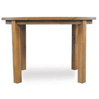 Lloyd Flanders 48 inch round Distressed Teak Dining Table - 286048
