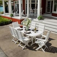 PolyWood Captain 7 Piece Dining Set - PW-CAPTAIN-SET2