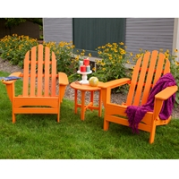 PolyWood Classic Adirondack 3 Piece Folding Chair Set - PW-ADIRONDACK-SET5