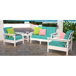 PolyWood Club 5 Piece Patio Set - PW-CLUB-SET4