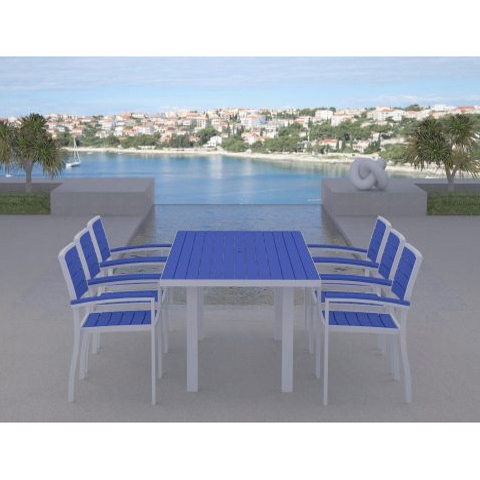 PolyWood Euro Dining Set with Arm Chairs - PW-EURO-SET5