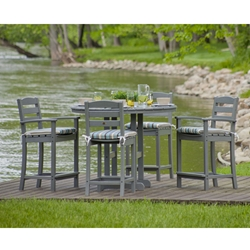 PolyWood La Casa Cafe 5 Piece Counter Set - PW-LACASA-SET1