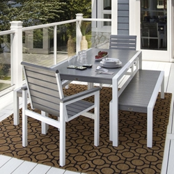 PolyWood MOD Dining Set with Benches - PW-MOD-SET2
