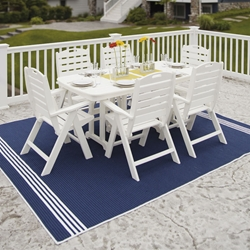 PolyWood Nautical 7 Piece Patio Dining Set - PW-NAUTICAL-SET3