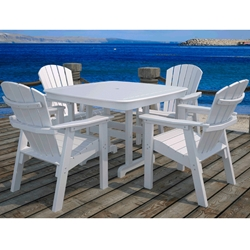 PolyWood Seashell 5 Piece Dining Set - PW-SEASHELL-SET1