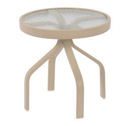 "Windward Acrylic 18"" Round Side Table - WT1818A"