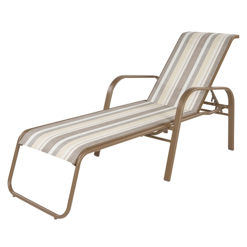 Windward Anna Maria Sling Chaise Lounge with Arms - W7710SL