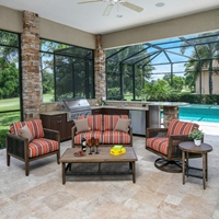 Windward Belize Outdoor Furniture Set with Onyx Rope Accents - WW-BELIZE-SET1