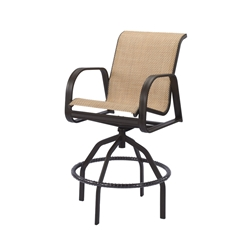 Windward Cabo Sling Swivel Bar Chair - W3437