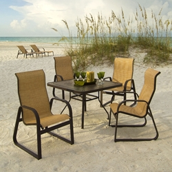 Windward Cabo Sling Square Outdoor Dining Set for 4 - WW-CABO-SET1