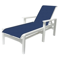 Windward Cape Cod MGP Sling Chaise Lounge with Arms - Comfort Height - W7310-18AXT