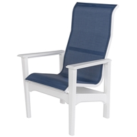 Windward Cape Cod MGP Sling High Back Dining Arm Chair - Comfort Height - W7350HBXT