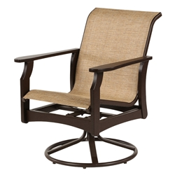 Windward Covina MGP Sling Dining Swivel Rocker - W5835