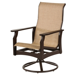 Windward Covina MGP Sling High Back Dining Swivel Rocker - W5835HB