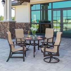 Windward Covina MGP Sling Dining Set with High Back Chairs - WW-COVINA-SET1