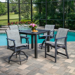 Windward Covina MGP Sling Balcony Height Patio Set for 4 - WW-COVINA-SET2