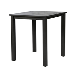 "Windward Etched Wood Grain Aluminum 39"" Square Balcony Table - KD39-36SEAU"