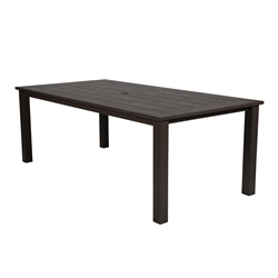 "Windward Etched Wood Grain Aluminum 42"" x 76"" Rectangle Dining Table - KD4276SEAU"
