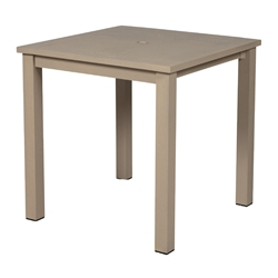 "Windward Etched Wood Grain Aluminum 61"" Square Balcony Table - KD61-36SEAU"