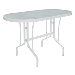 "Windward Glass 30"" x 60"" Oval Balcony Dining Table - WT3060-36G"