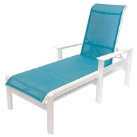 Windward Hampton Sling Chaise Lounge with Arms - W6810A