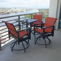 Windward Hampton MGP Sling Balcony Height Patio Set - WW-HAMPTON-SET2