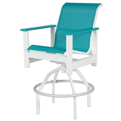Windward Kingston Sling Swivel Bar Chair - W4237