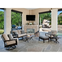 Windward Kingston MGP Loveseat and Lounge Chair Outdoor Furniture Set - WW-KINGSTON-SET2