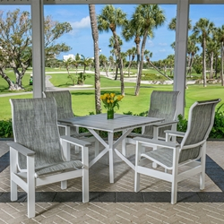 Windward Kingston MGP Sling Outdoor Dining Set with Tahoe Plank Table - WW-KINGSTON-SET5