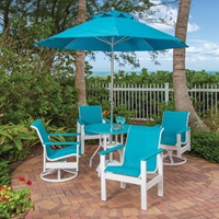 Windward Kingston MGP Sling Dining Set with Newport Table - WW-KINGSTON-SET6