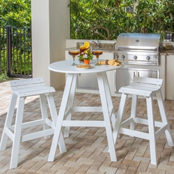 Windward Kingston MGP Bistro Outdoor Set for 2 - WW-KINGSTON-SET8