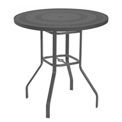 "Windward Mayan Aluminum 36"" Round Balcony Table - KD3618-36MYNU"