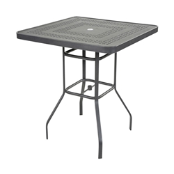 "Windward Mayan Aluminum 36"" Square Bar Table - KD3618BSMYNU"