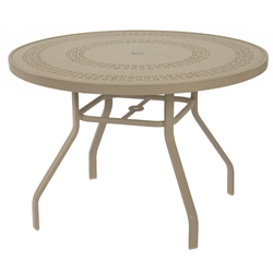"Windward Mayan Aluminum 36"" Round Dining Table - KD3618MYNU"