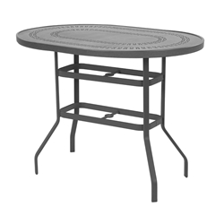 "Windward Mayan Aluminum 36"" x 54"" Oval Bar Table - KD3654-18BMYN"