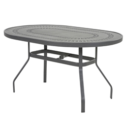 "Windward Mayan Aluminum 36"" x 54"" Oval Dining Table - KD3654-18MYN"