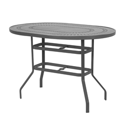 "Windward Mayan Aluminum 36"" x 54"" Oval Balcony Table - KD3654-36MYN"