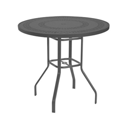 "Windward Mayan Aluminum 42"" Round Balcony Table - KD4218-36MYNU"