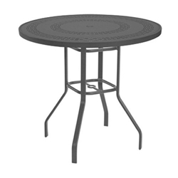 "Windward Mayan Aluminum 42"" Round Bar Table - KD4218BMYNU"