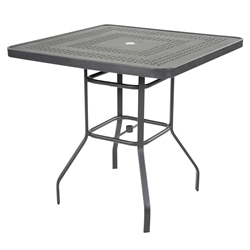 "Windward Mayan Aluminum 42"" Square Bar Table - KD4218BSMYNU"