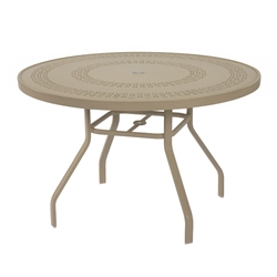 "Windward Mayan Aluminum 42"" Round Dining Table - KD4218MYNU"