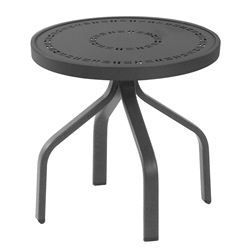"Windward Mayan Aluminum 18"" Round Side Table - WT1818MYN"